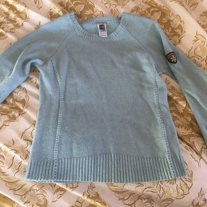 Ice Blue The North Face sweater size M